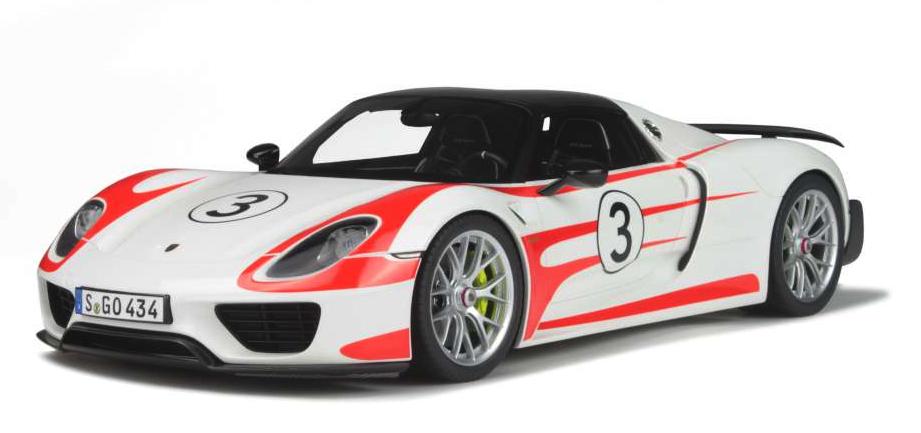 GT SPIRIT 1 18 Scale Porsche 918 Spyder Weissach-Blanc Pur