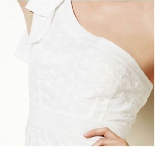 Jessica Simpson One Shoulder White Eyelet Lace Dress Dress Dress 6cd0d7