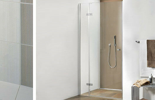 Heiler UN215hl Dusche Nischenlösung 1 Festteil,1 Drehtür,Breite 1,165 m Kabine