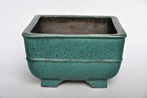 Aiba Kouichirou Koyo Tokoname Deep Square Cascade Semi Cascade Glazed Bonsai Pot Ebay