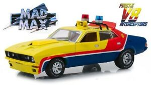 1974 FORD FALCON 1ST OF THE V8 INTERCEPTORS YELLOW POLICE 1:18 BY GREENLIGHT