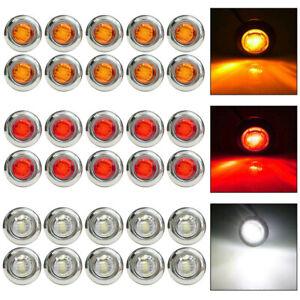 12V-3-4-034-Mini-LED-Small-Round-Side-Marker-Light-Truck-Trailer-RV-Car-Bullet-Lamp