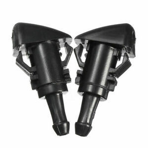 2x-Front-Windshield-Washer-Nozzle-For-Chrysler-300-Dodge-Ram-1500-2500-2005-2013