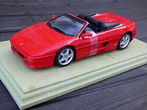 Ut-Modelo-Rojo-Ferrari-F355-Spider-1-18-Convertible-Cabrio-Coche-de-Juguete-Coleccionable