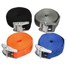 Portable Cam Buckle Tie Down Luggage Straps Quick Release Cargo Load Lash 2.5m