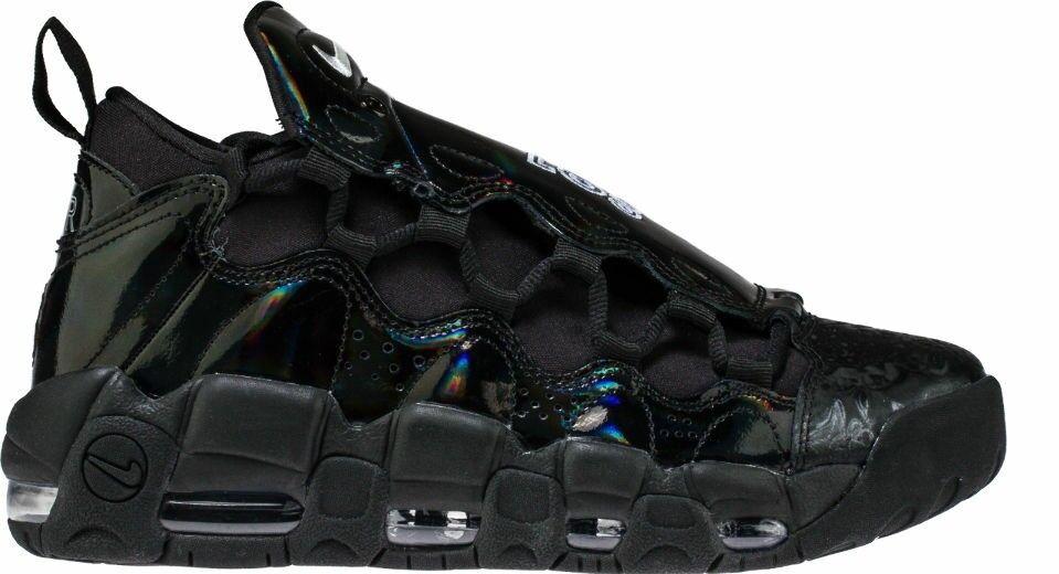 Women's Nike Air More Money LX New AJ1312-002 Patent Triple Black Lux QS Sz 7.5