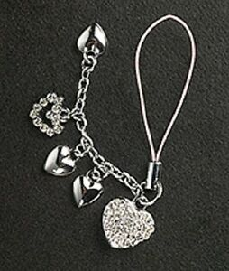 5-Crystal-Hearts-Cell-Phone-Charm-For-Mobile-Phone-New