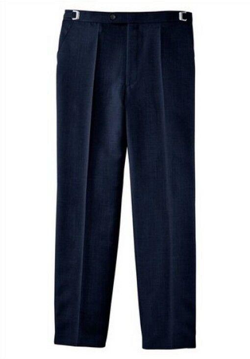 Studio Coletti Trousers K-Gr.29, 30,34, 35 New Men's Pleat Front Navy bluee