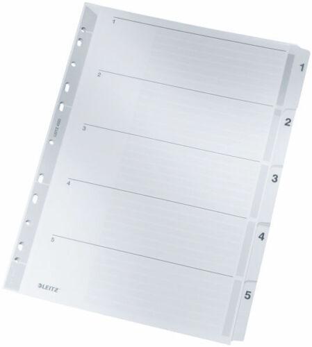 1-5 1-10 1-12 1-20 Leitz Register Karton Zahlenregister Kartonregister DIN A4