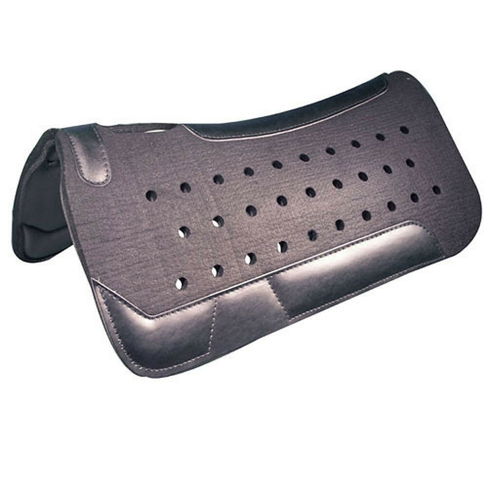 Intrepid International NEW Western Felt Saddle Pad Contoured with Wear Leathers