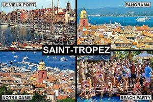 Souvenir Fridge Magnet Of Saint Tropez France Ebay