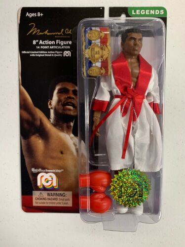 2019 MEGO 8 CLOTHED ACTION FIGURE Boxing MUHAMMAD ALI ROBE GLOVES BELT NEW