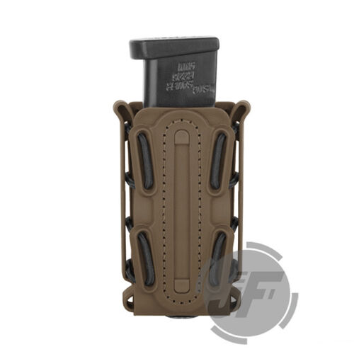 Tactical Scorpion Soft Shell 9mm Pistol Magazine Pouch Mag Holster Carrier Tall