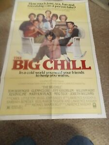 "THE BIG CHILL(1983)WILLIAM HURT ORIGINAL ONE SHEET POSTER 27""BY41"" NICE!"