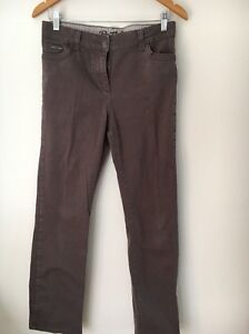 Marks-And-Spencer-Size-10-Mocha-Cotton-Trousers-Jeans-lt-T6230
