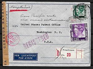 Netherlands Indies covers 1940 TransPacific R-Airmailcover PENGALENGAN