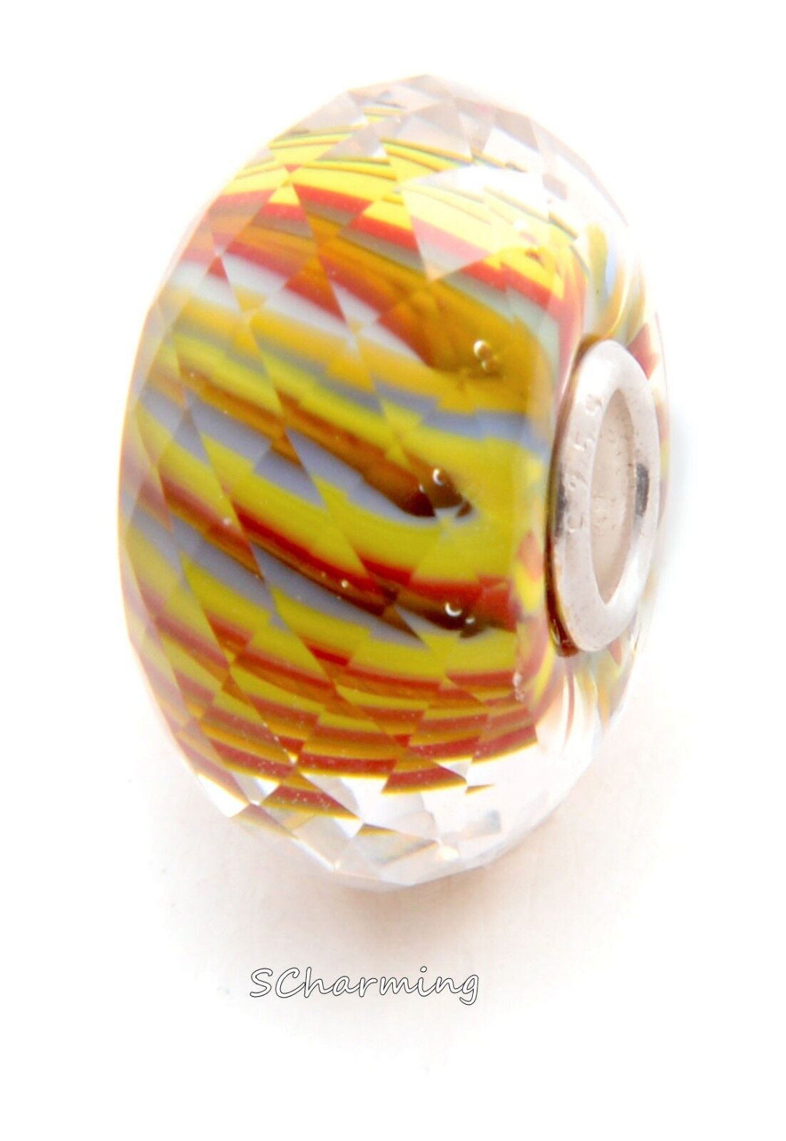 Authentic Trollbeads Glass River of Life Facet 62304 from Eastern Facet Kit