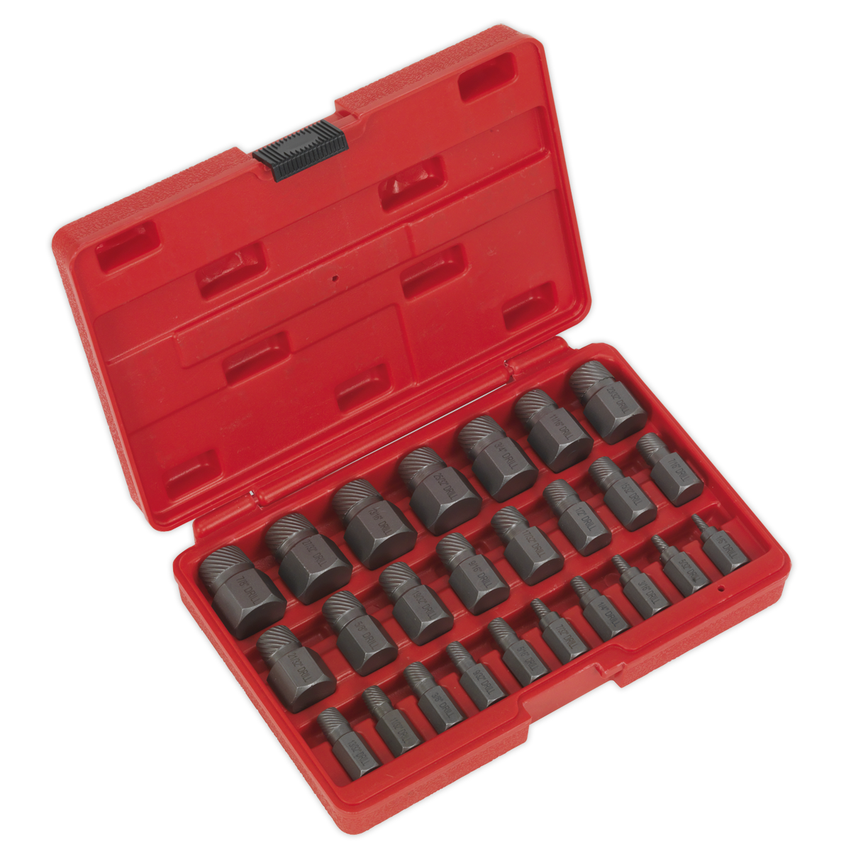AK8182 Sealey Multi Spline Screw Extractor Set 25pc