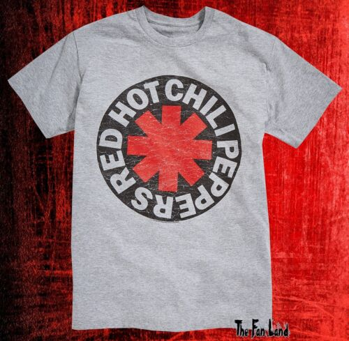 New Red Hot Chili Peppers Asterisk Logo Vintage Concert T-shirt Homme