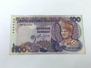 B0124 - Malaysia 5th RM100 Aziz Taha Sign ZB1937960 - VF