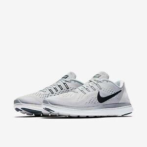 9b3b23654037 Nike Flex 2017 RN Running Shoes Platinum Gray Black White 898457-002 ...