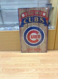 Details About Chicago Cubs Est 1876 Vintage Wood Sign 15x24 Brand New Wincraft