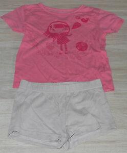 313-Pyjama-short-t-shirt-4-ans-gris-et-rose-NKY