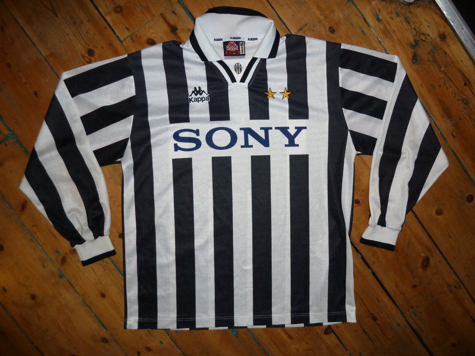 XL + Juventus Italia 1995 96 Camiseta Fútbol Equipamiento de Casa Maglia Jersey