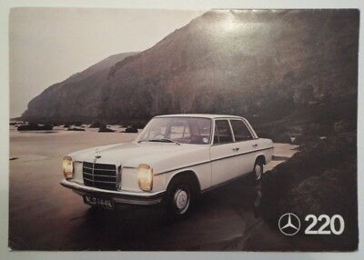 mercedes 220s 220se owners sales brochure w111 original new