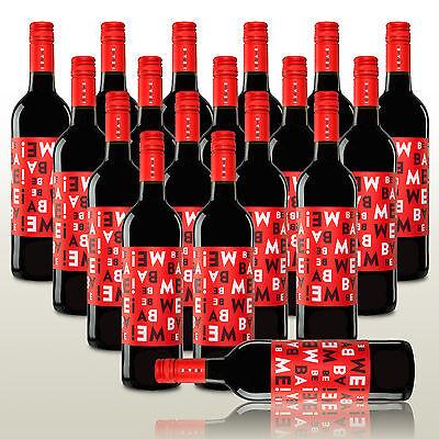 18 Fl. Bebame Tinto, 100% Tempranillo, Rotwein trocken, Aufmachen & genießen!