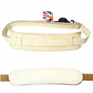 Klondyke-039-50s-style-Leather-strap-with-sheepskin-backing-pad-Natural-5013