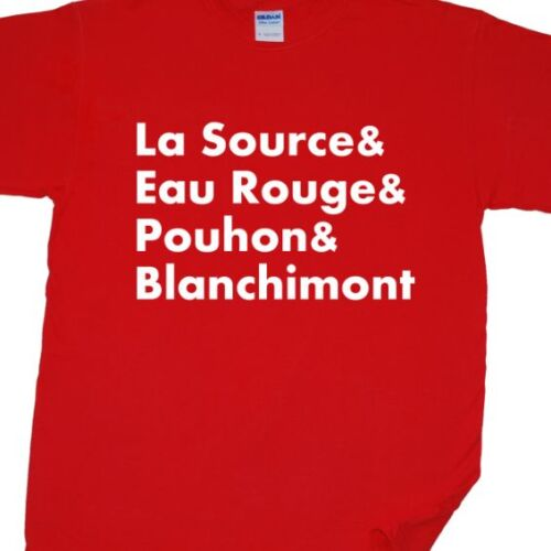 Spa Francorchamps Classic Corners T-Shirt Belgian Grand Prix, Formula 1, F1