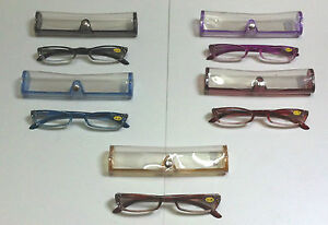 Women-039-s-5-x-Diamontees-Reading-Glasses-with-Case-5-Colours-New-Special-Offer