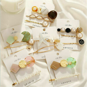 3Pcs-Hairpin-Barrette-Snap-Women-Pearl-Accessories-Clips-Plastic-Hair-Stick