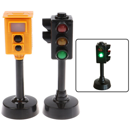 Mini Traffic Signs Light Speed Camera Model with Music LED Education Kids T/%P