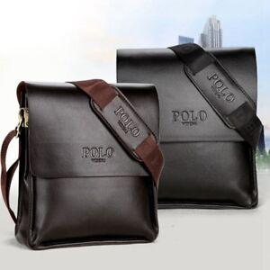 New Men Leather Business Office Handbag Shoulder Bags Black Brown
