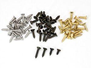 100-Stueck-Kreuzschlitz-Minischrauben-2x5-2x6-2x8-2x10mm-antik-bronze-gold-silber