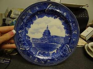 Antique Wedgwood Etruria England Transferware Plate WASHINGTON The Capitol 1899