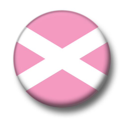 25mm Pin Button Badge Pink Scottish Scotland Independence SNP Saltire 1 Inch