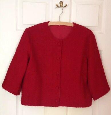 Accurato Originale Vintage 50's/60's Donna Box Blazer, Hand Made. Dimensioni Circa 12-14-mostra Il Titolo Originale Meno Caro