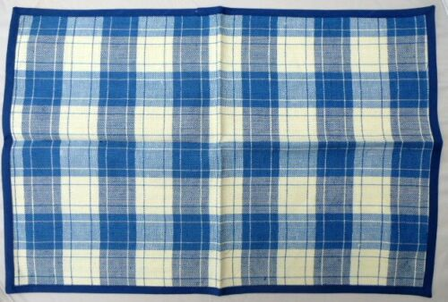 Tischset  Halbleinen Blauweiß  50x35cm Platzdeckchen 5108