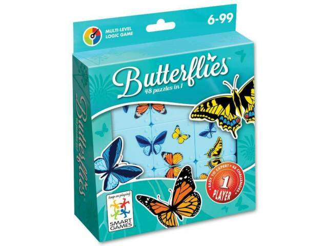 SmartGames Butterflies 48 in 1 Puzzle Game (SMA518792)