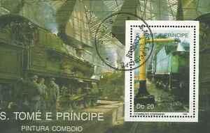 Timbre-Trains-St-Thomas-et-Prince-BF212-o-Ref-Michel-lot-2713