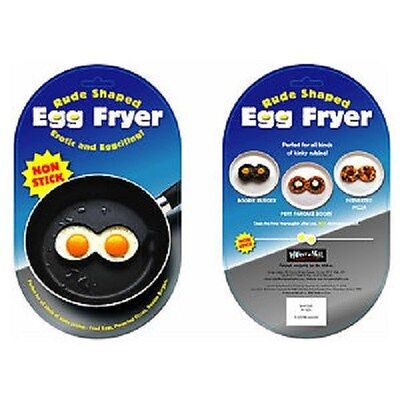 Saucy Adult Egg Fryer Boob Breast Shape Novelty Rude Food