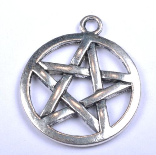 FREE SHIP 5Pcs Tibetan Silver Star Charms /& Pendants 29MM F142