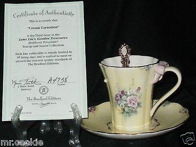 Cream Carnation By Lena Liu On Garden Treasures Teacup Saucer Set