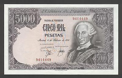 aUNC CONDITION. SPAIN 5000 PESETAS 1976  P 155