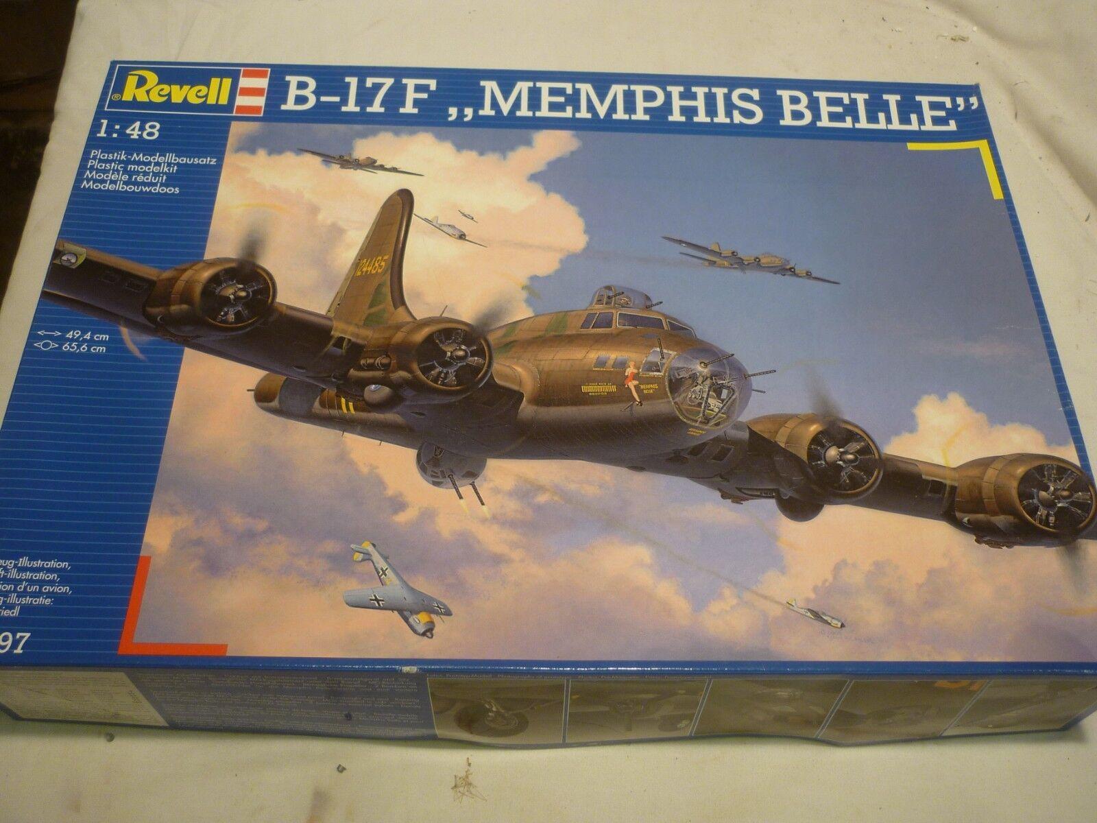 A Revell un-built plastic kit of a B-17F Memphis Belle, boxed