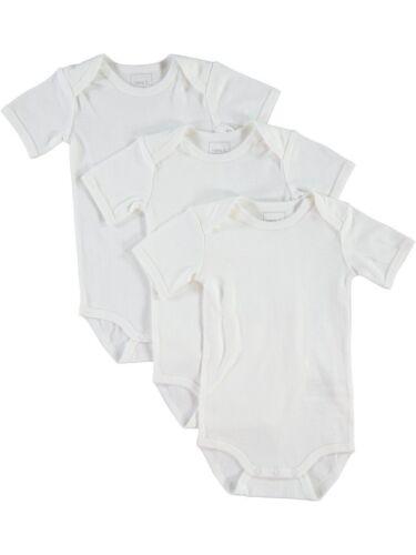 NAME IT 3er kurzarm Basic Body Set in weiß Größe 50 bis 98