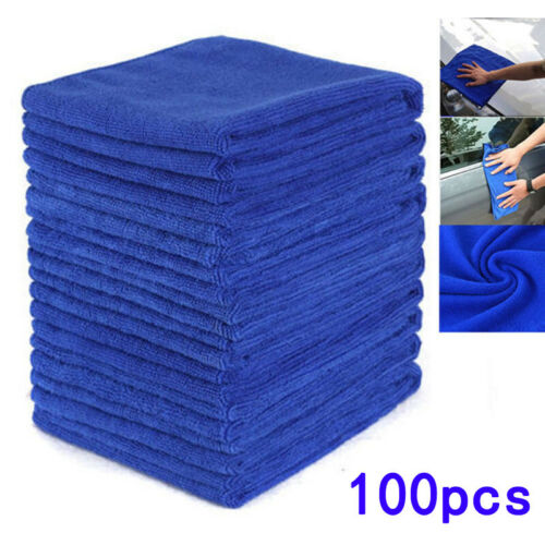 No-Scratch Rag Polishing Detailing 100pcs Microfiber Cleaning Cloth Towel Hot